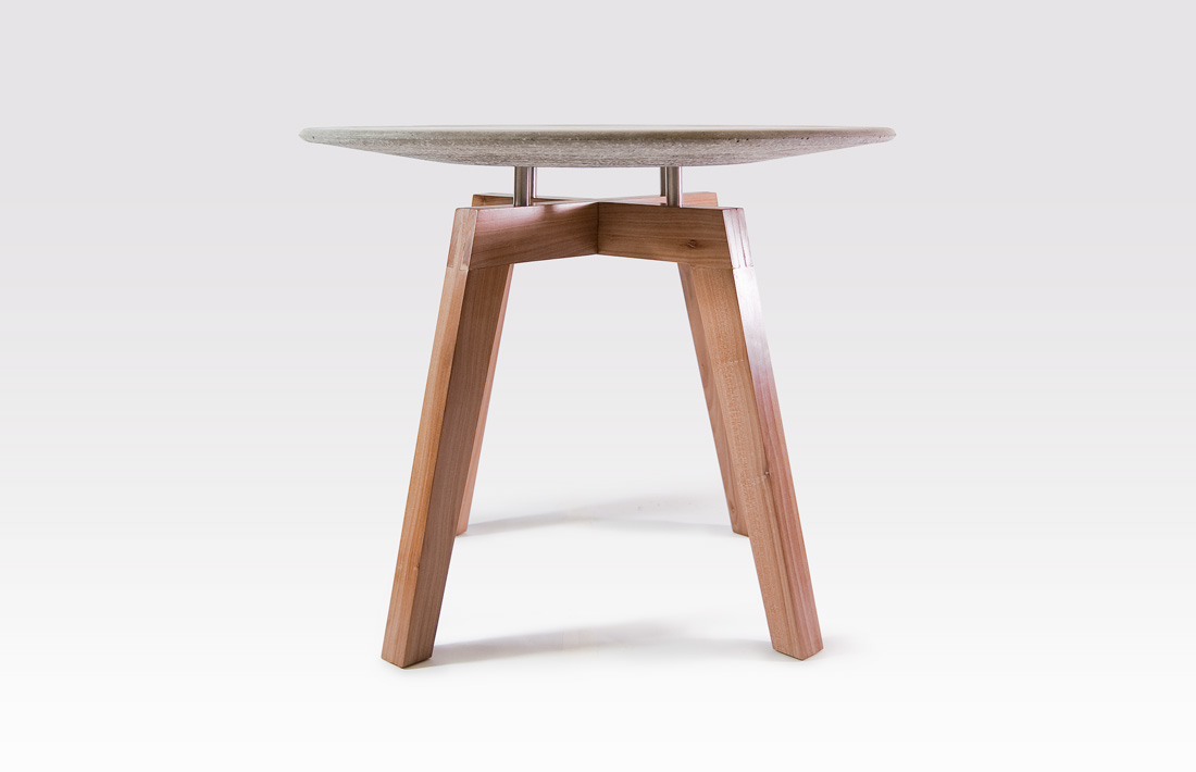 Armando side table concrete wood tavolino legno cemento pastina italian goodies collection