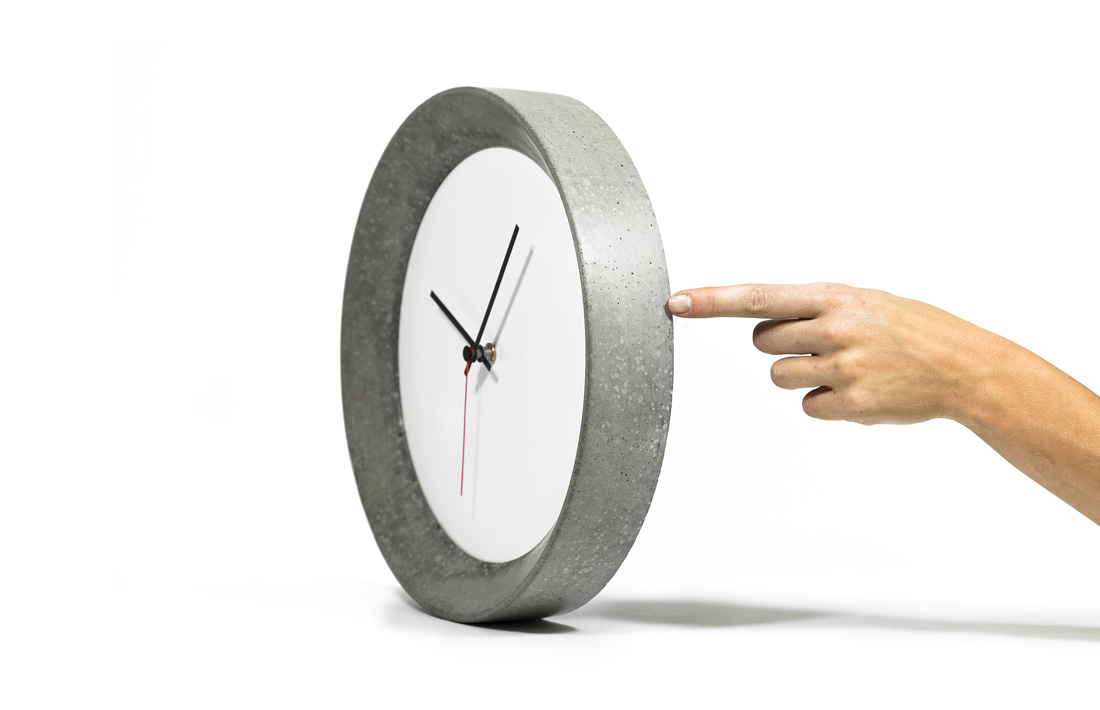 Pachino wall clock orologio parete cemento concrete pastina italian goodies collection