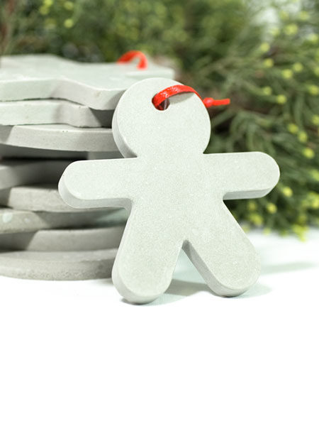 Babbo christmas concrete decorations cemento natale Studio Pastina