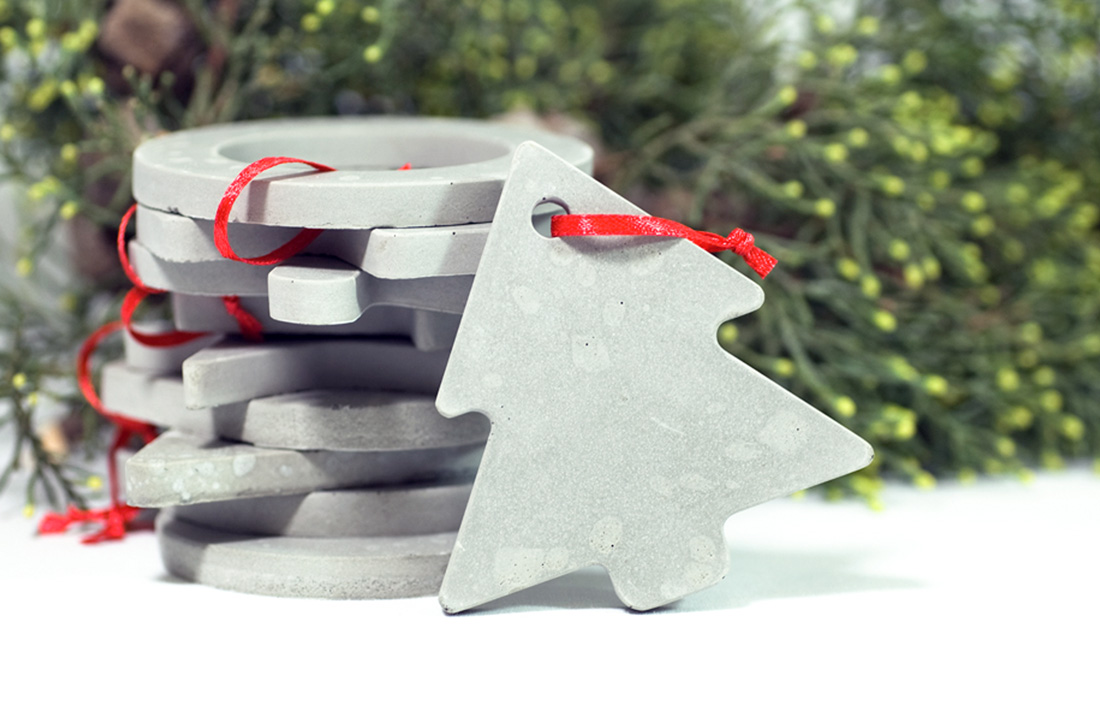 babbo concrete decorations christmas cemento decorazioni natalizie pastina italian goodies collection