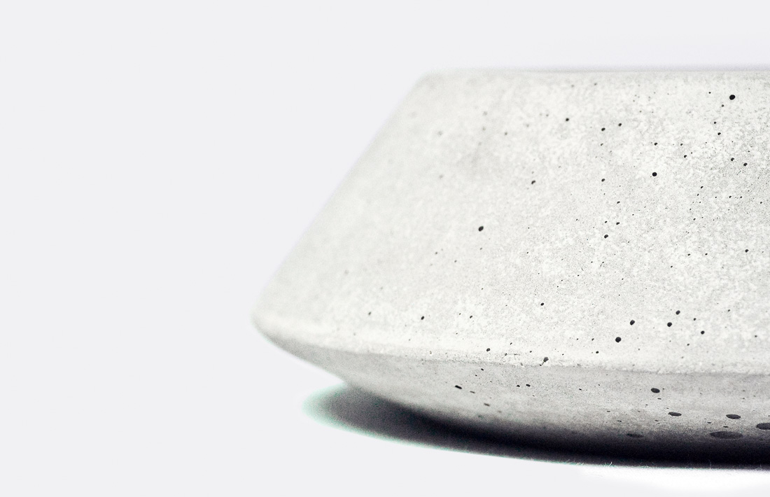 victor posacenere ashtray concrete cemento acciaio sigaro pastina italian goodies collection