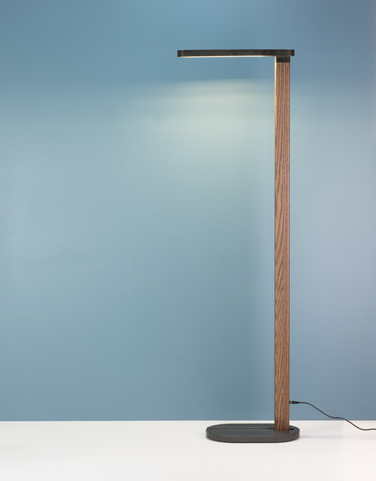 CHICHIBIO floor lamp led concrete solid wood pastina italian goodies collection